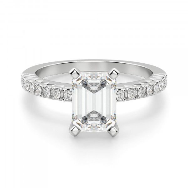 Angelix Emerald Cut Engagement Ring
