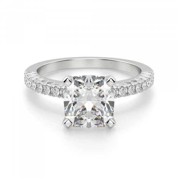 Angelix Cushion Cut Engagement Ring