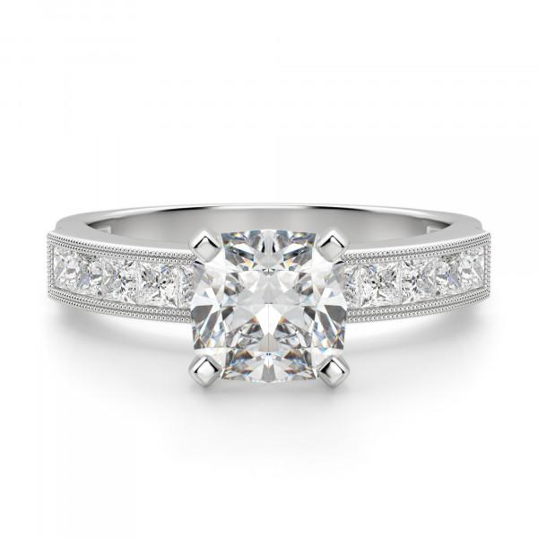 Alyssa Cushion Cut Engagement Ring