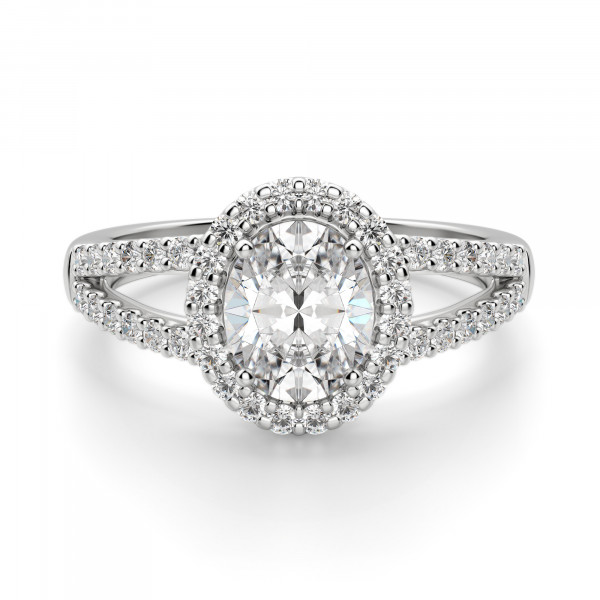 Bella Vista Oval Cut Engagement Ring