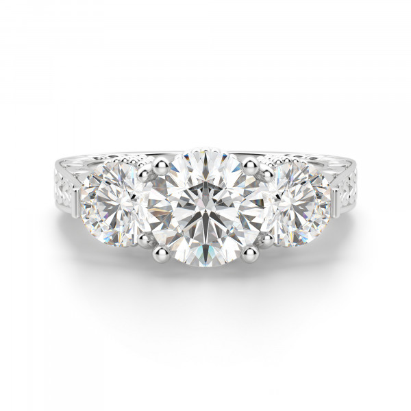Gypsy Engagement Ring with 1.49 carat Round Center