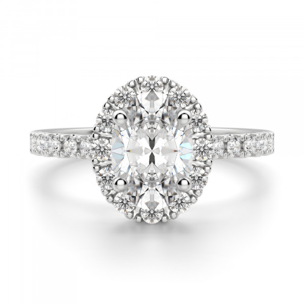 Madrid Accented Oval Cut Engagement Ring