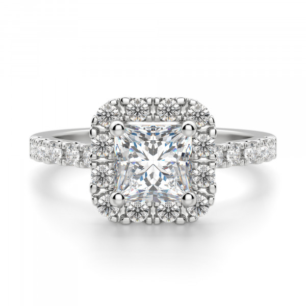 Madrid Accented Princess cut Engagement Ring