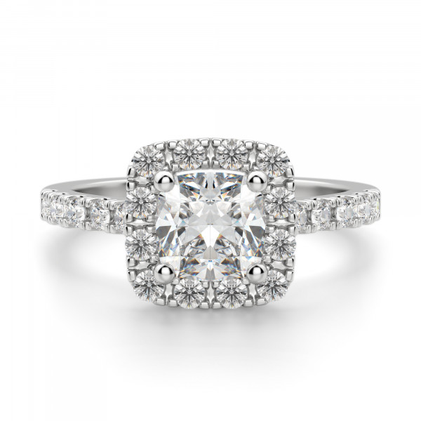 Madrid Accented Cushion cut Engagement Ring