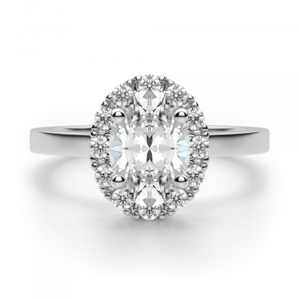 Madrid Classic Oval Cut Engagement Ring