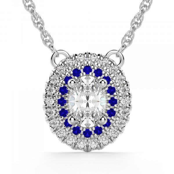 Almeria Oval Cut Sapphire Necklace