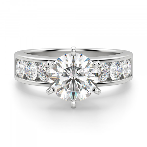 Diamond Diva Round Cut Engagement Ring