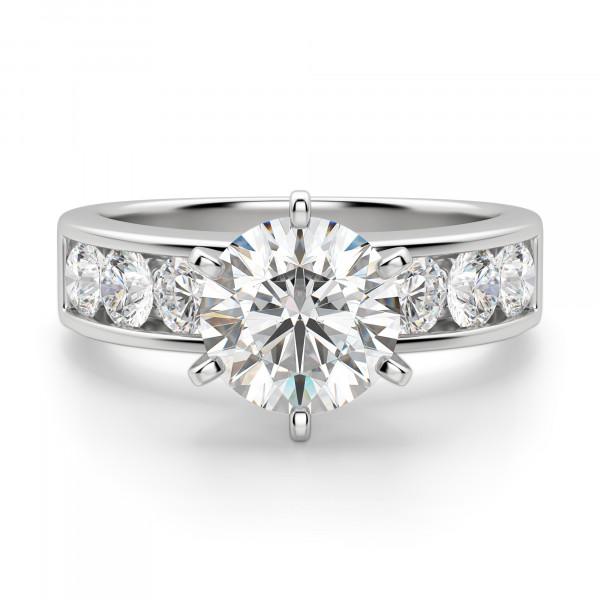 Diamond Diva Round Cut Engagement Ring