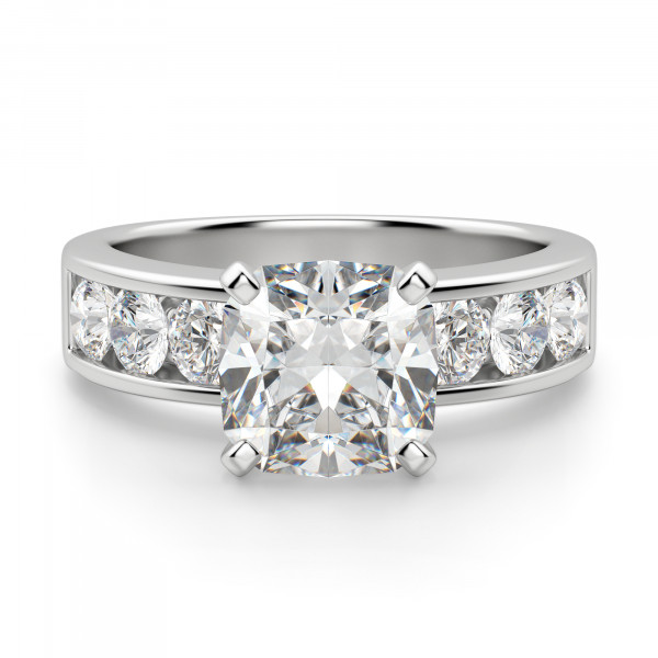 Diamond Diva Cushion Cut Engagement Ring