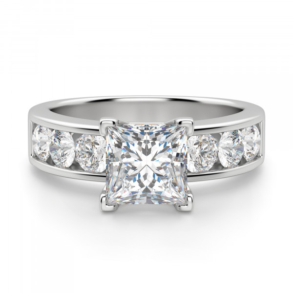 Diamond Diva Princess Cut Engagement Ring