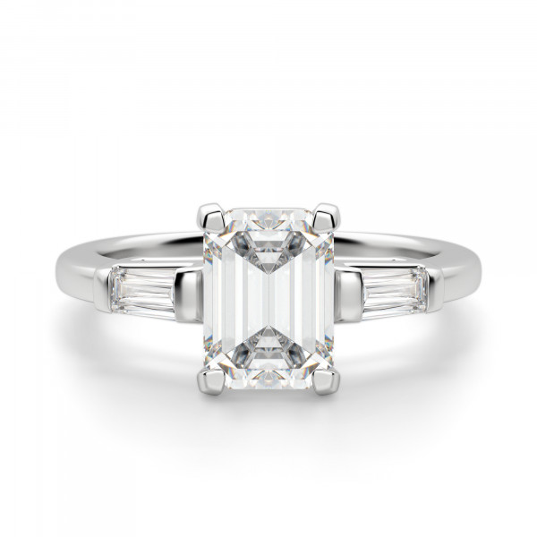 Endless Days Emerald Cut Engagement Ring