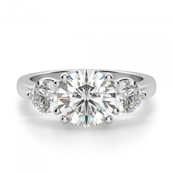 Simply Irresistible Round Cut Engagement Ring