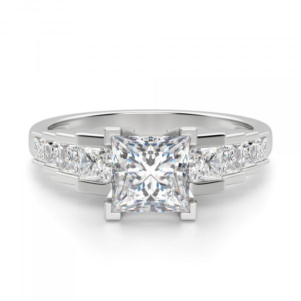 Cinderella Staircase Princess Cut Engagement Ring