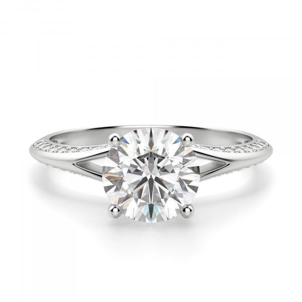 Irene Round Cut Engagement Ring
