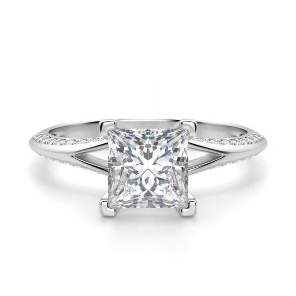 Irene Princess Cut Engagement Ring