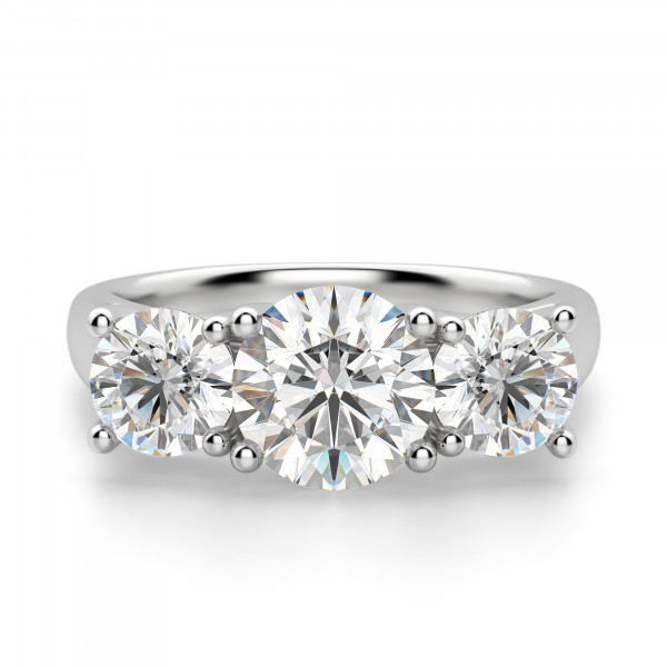 Open Arms Round Cut Engagement Ring
