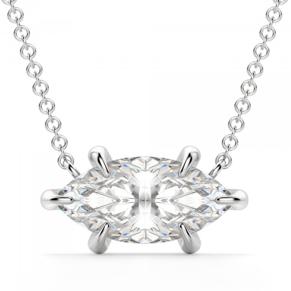 East-West Marquise Necklace