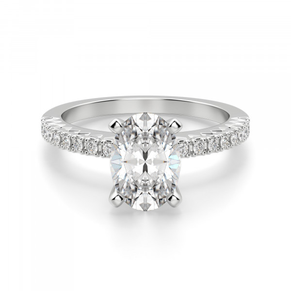Angelix Oval Cut Engagement Ring