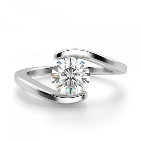 Messina Round Cut Engagement Ring