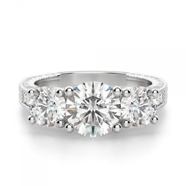 Bravura Round Cut Engagement Ring
