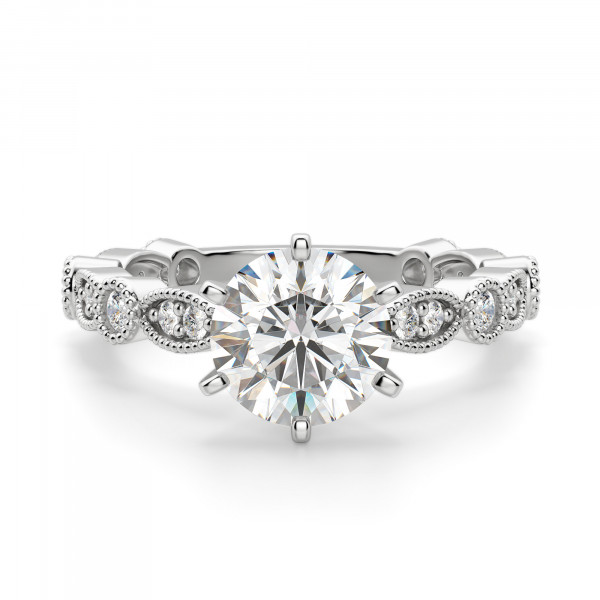 Infinite Love Round cut Engagement Ring