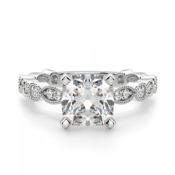 Infinite Love Cushion cut Engagement Ring