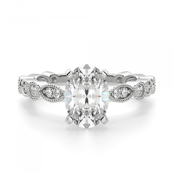 Infinite Love Oval cut Engagement Ring