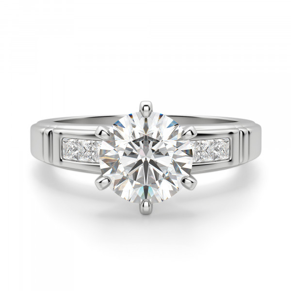 Martha Round Cut Engagement Ring