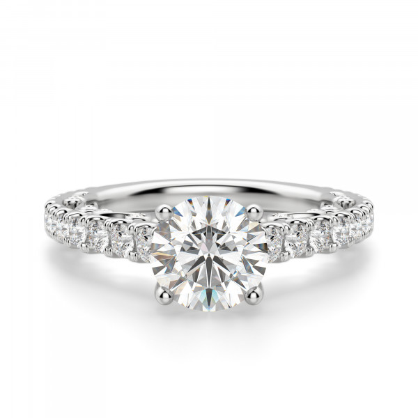 Fleur Round cut Engagement Ring