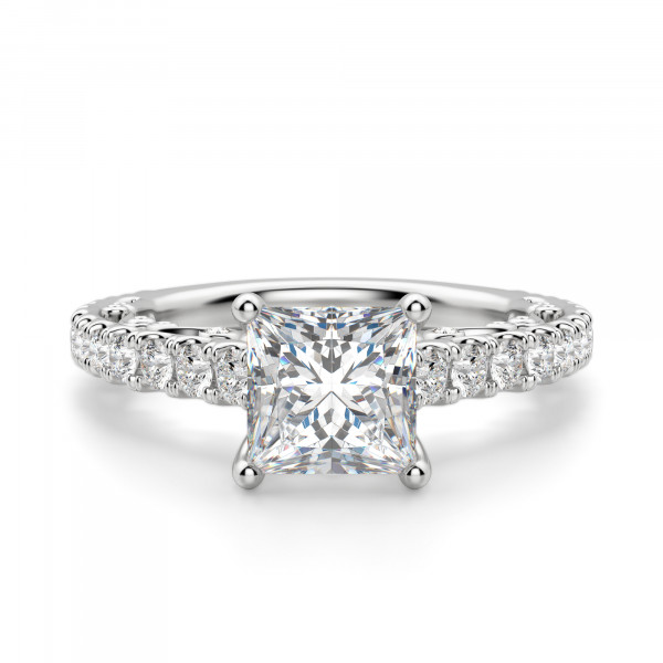 Fleur Princess cut Engagement Ring