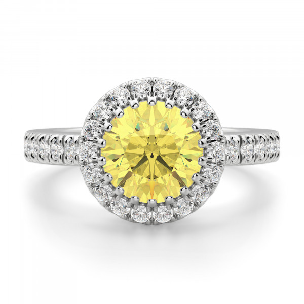 Fantine Round Cut Engagement Ring