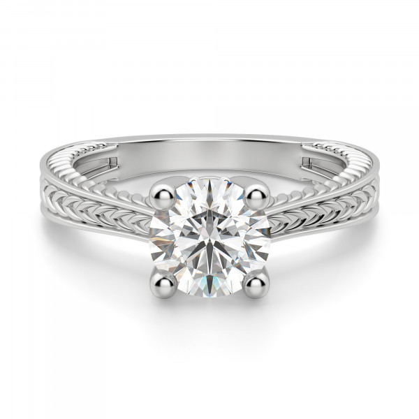 Sage Classic Round Cut Engagement Ring