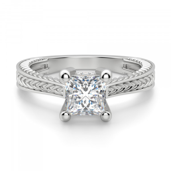 Sage Classic Princess Cut Engagement Ring