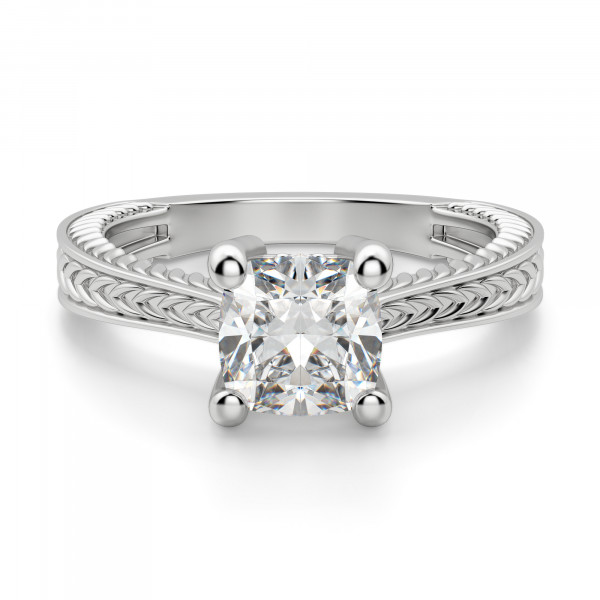 Sage Classic Cushion Cut Engagement Ring