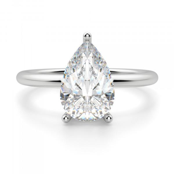 Basket Set 2.61 carat Pear cut Classic Engagement Ring