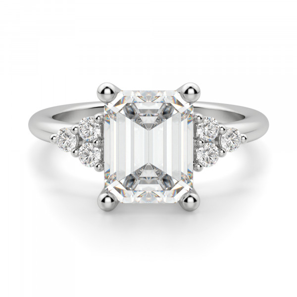 Muse 2.62 carat Emerald Cut Engagement Ring