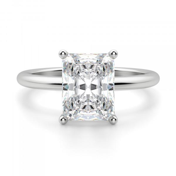 Basket Set 2.62 carat Radiant cut Classic Engagement Ring