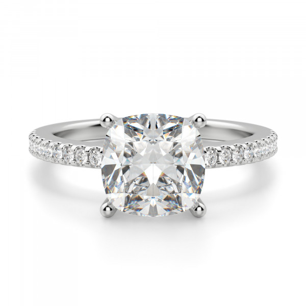 Basket Set 2.04 carat Cushion cut Accented Engagement Ring