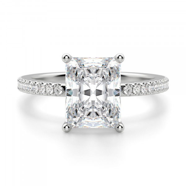 Basket Set 2.62 carat Radiant cut Accented Engagement Ring