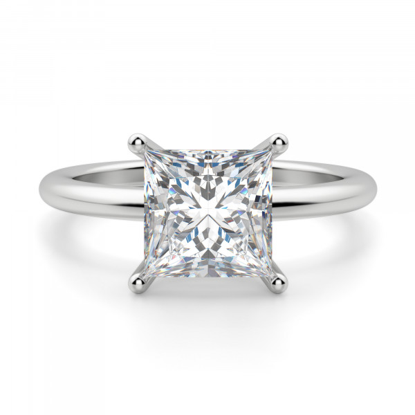 Basket Set 2.01 carat Princess cut Classic Engagement Ring