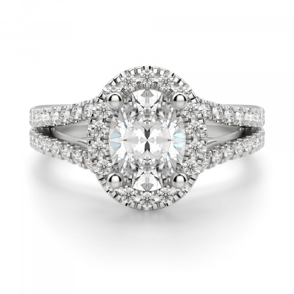 Palm Springs Oval Cut Engagement Ring