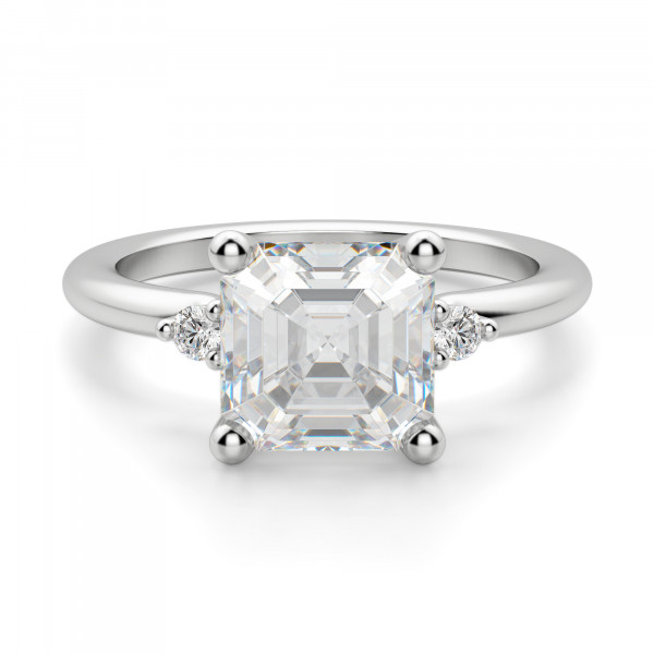 Muse 2.40 carat Asscher Cut Engagement Ring