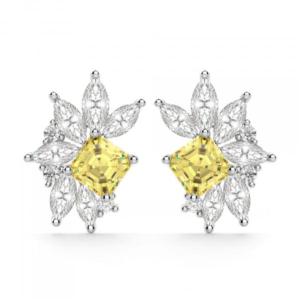 Gardenia Canary Cluster Stud Earrings