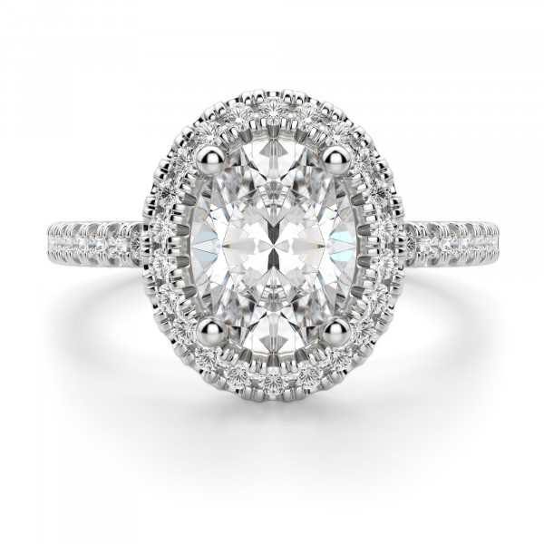 Carmona Oval Cut Engagement Ring