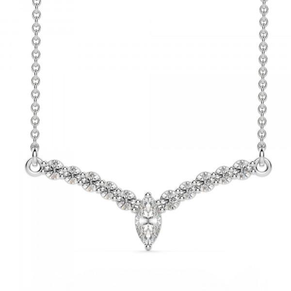 Laurel Necklace, Sterling Silver