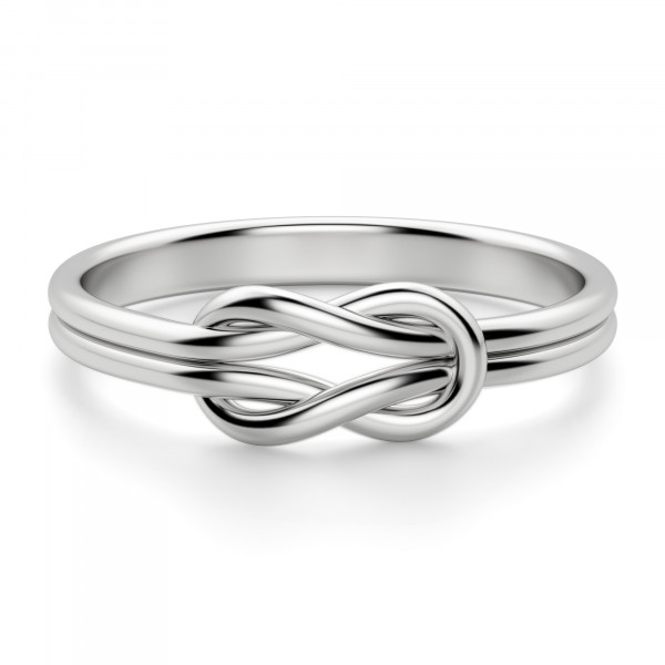 Bold Knot Ring, Sterling Silver