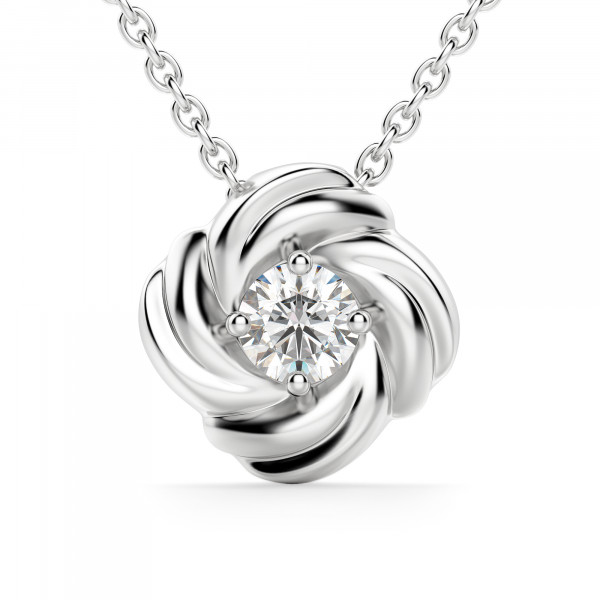 Love Me Knot Necklace, Sterling Silver
