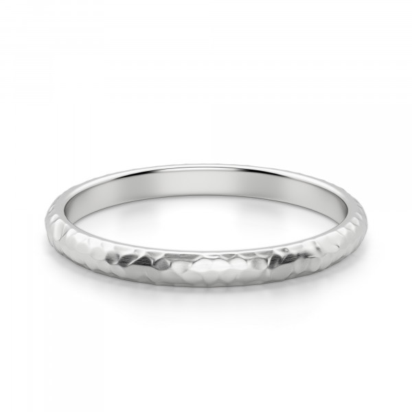 Hammered Comfort Wedding Band