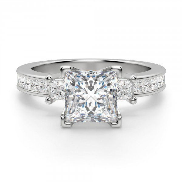 Kit Princess Cut Engagement Ring