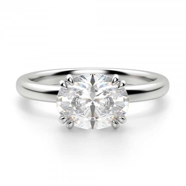 Enement Rings Oval Cut | East West Classic Oval Cut Engagement Ring